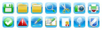iPhone Style Toolbar Icons
