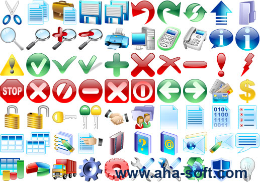 Basic Icons for Vista - stockicons,stock,icon,icons,set,ico,clelection,collection,icone,basic,ready - Make your software look as nice as Vista with icons crafted in the same style