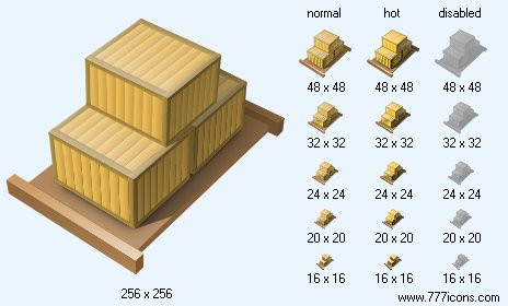 Laden Pallet Icon  Business Icons for Vista