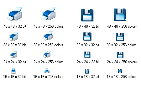 Blue Icon Library