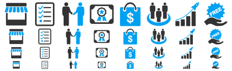 Business Bicolor Icons