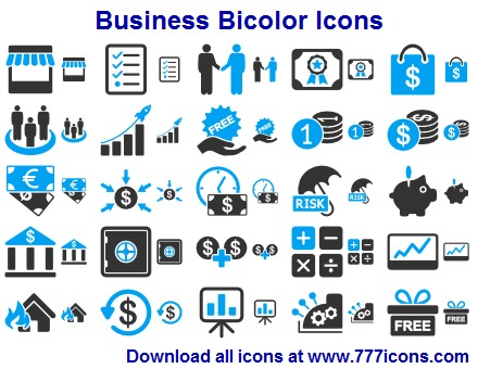 Business Bicolor Icons full screenshot