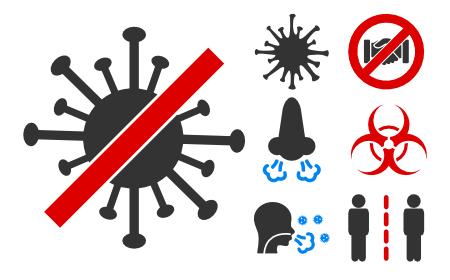 Coronavirus Outbreak Icons