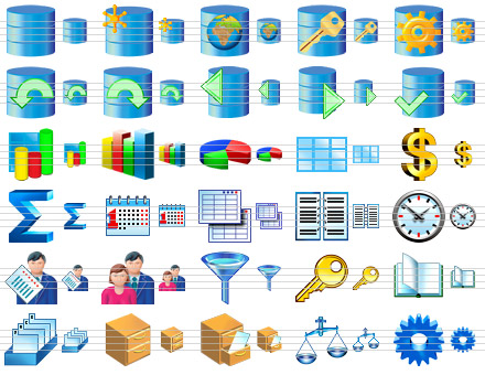 Database Software Icons screenshot