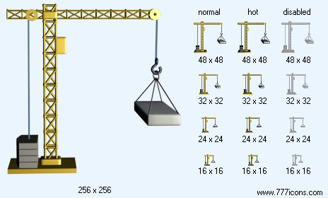 Building Crane Icon Images