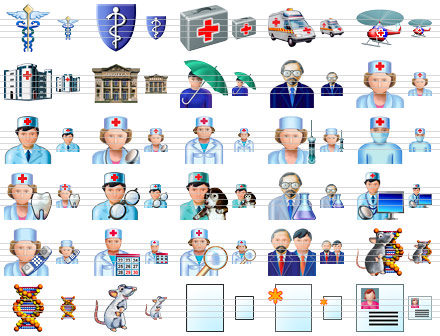 Health Care Icons - health,care,icon,medicine,medical - A fine set of distinct and rich-colored icons depicting healthcare matters