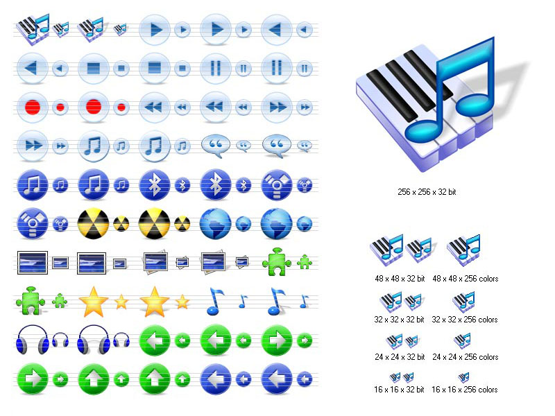 Enhance your multimedia project with hi-res Multimedia Icons for Vista