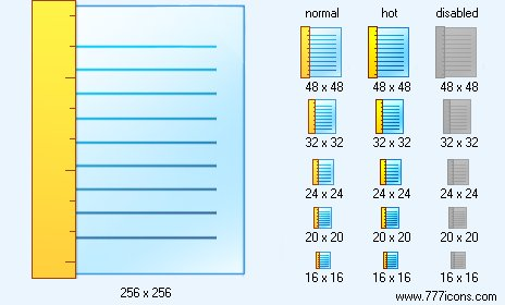Vertical Page Ruler Icon. Paper Icon Library