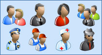 People Icon Set for Vista