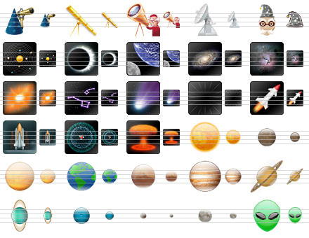 Space Icons Screen shot