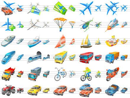 Transport Icons for Windows Vista